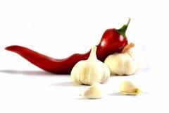Paprika e alho Imagem de Stock Royalty Free