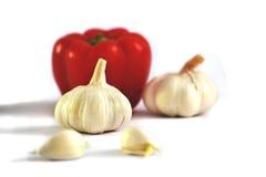 Paprika e alho Imagem de Stock
