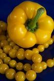 Paprika et programmes jaunes Photos libres de droits