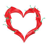 Paprika in the form of heart. Royalty Free Stock Photography