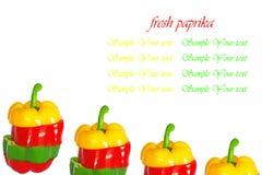 Paprika frais Photo libre de droits