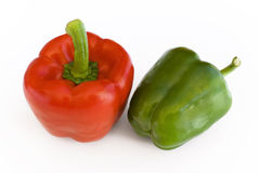 Paprika green and red. Paprika red and green peppers royalty free stock image