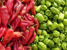 Paprika, Green, Red, Vegetables Royalty Free Stock Image