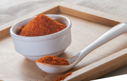 Paprika ground in a white bowl Stock Images