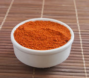 Paprika ground in a white bowl Royalty Free Stock Image