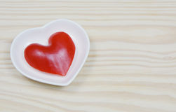 Paprika heart shape. Close up from paprika in heart shape Stock Image