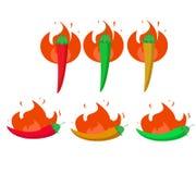 Paprika heiß Stockbilder