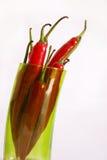 Paprika im grünen Glas lizenzfreie stockfotografie