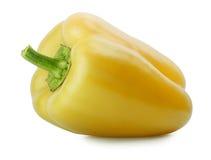 Paprika jaune d'isolement sur le blanc Photo stock