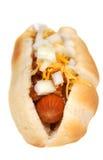 Paprika-Käse-Hotdog stockfoto