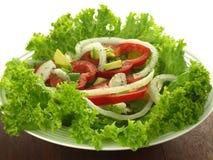 Paprika on lettuce leaves Stock Image