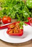 Paprika llena (con la carne) Imagen de archivo libre de regalías
