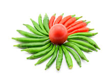 Paprika lokalisiert auf weißem Hintergrund lizenzfreie stockfotografie