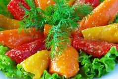 Paprika met kruiden Stock Fotografie