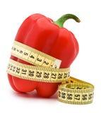 Paprika mit Zentimeter Lizenzfreies Stockfoto