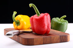 Paprika mix and knife Royalty Free Stock Image