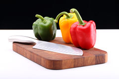 Paprika mix and knife Royalty Free Stock Photos