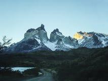 Paprika Nationalparktorres Del Paine Stockfoto