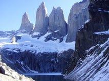 Paprika Nationalparktorres Del Paine Stockbild