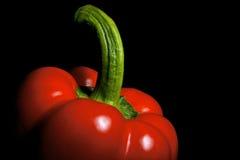 Paprika no preto Imagem de Stock Royalty Free