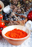 red pepper powder Stock Photo