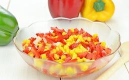 A paprika and onion salad Stock Image