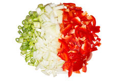 Paprika and onions 2 Royalty Free Stock Photos