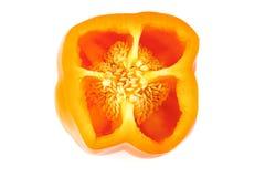 Paprika op wit wordt gesneden dat Royalty-vrije Stock Fotografie