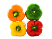 Paprika orange, vert, rouge et jaune photographie stock