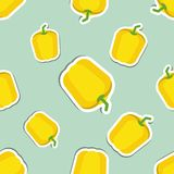 Paprika pattern. Seamless texture with ripe sweet pepper Stock Image