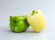 Paprika, poivron de 2 couleurs ou poivron doux Photographie stock