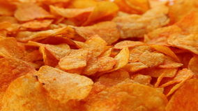 Paprika potato chips stock video