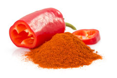 Paprika powder isolated on white Stock Images