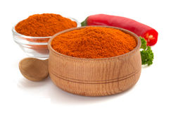 Paprika powder isolated on white Royalty Free Stock Photography