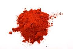 Paprika powder. Pile of red paprika powder Stock Photography