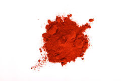 Paprika powder. Pile of red paprika powder royalty free stock photo
