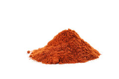 Paprika powder. Red paprika powder isolated on a white stock image