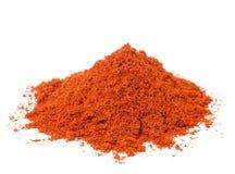 Paprika powder on white background Stock Image