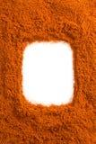 Paprika powder  on white Stock Photo