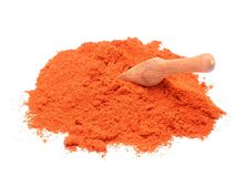 Paprika powder on white background Stock Image