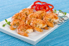 Paprika Prawn Satay Photo stock