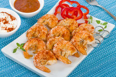 Paprika Prawn Satay Royalty Free Stock Images