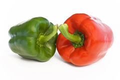 Paprika red and green Stock Images