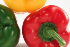 Paprika red, green, yellow Stock Photos