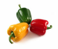 Paprika red, green, yellow Stock Images