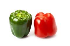 Paprika rot und grün Lizenzfreie Stockbilder