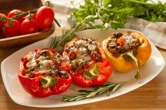 Paprika rouge bourré cuit au four Photo stock