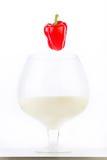 Paprika rouge dans le lait Photo libre de droits