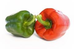 Paprika rouge et vert Images stock