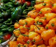 Paprika sain au marché espagnol photographie stock libre de droits